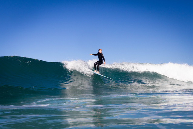 Surf photography longboarder
