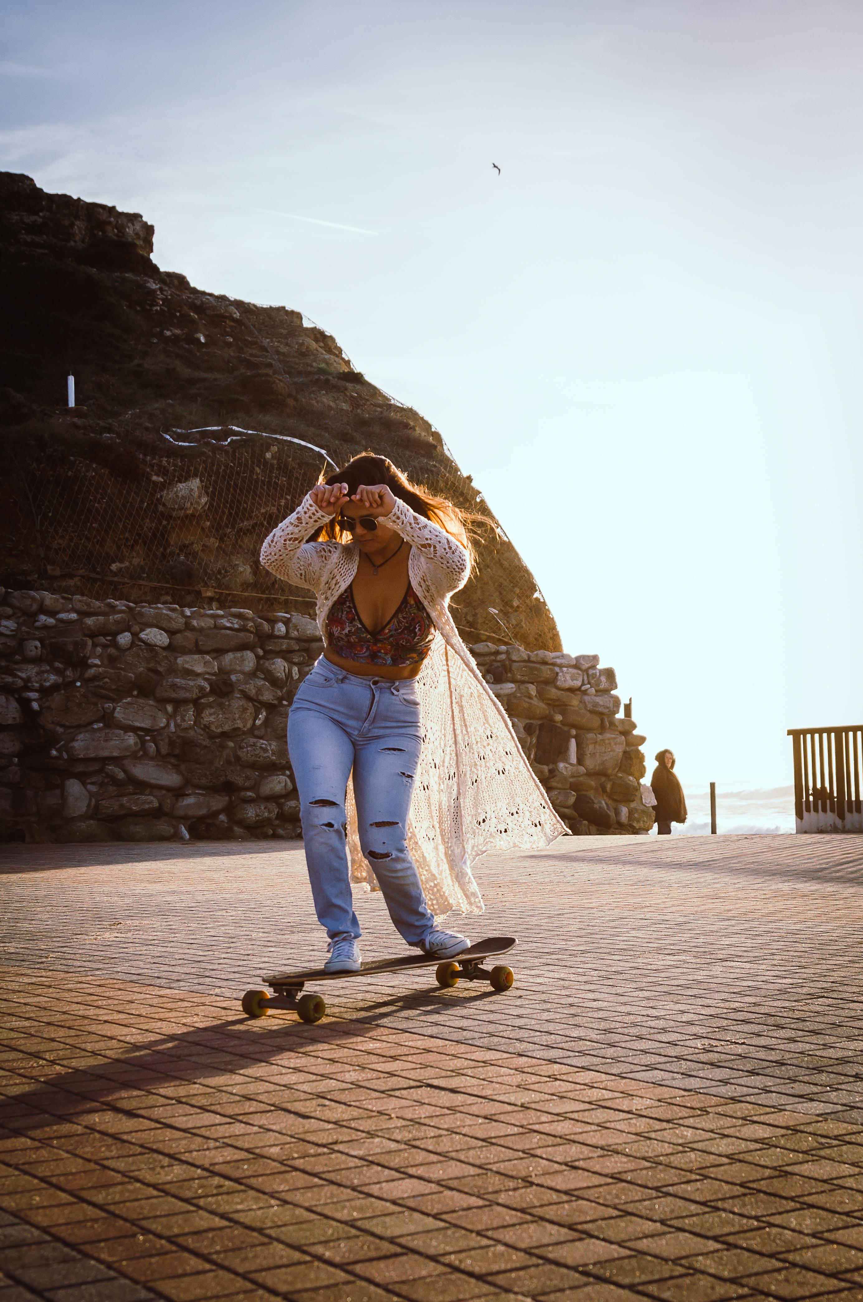 Skaterboarder female portrait