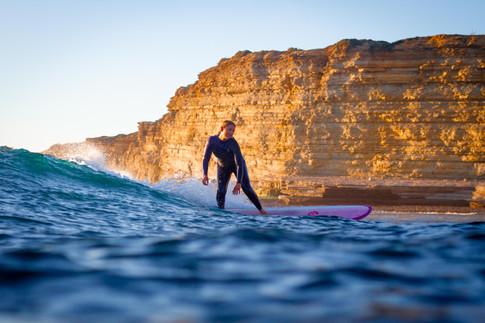Elegant surfer girl