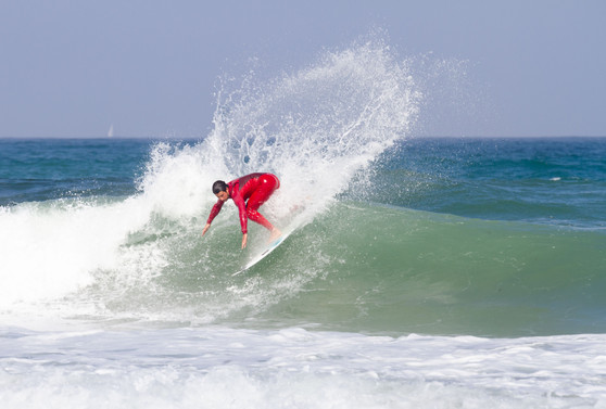 Professional surfer in Ericeira