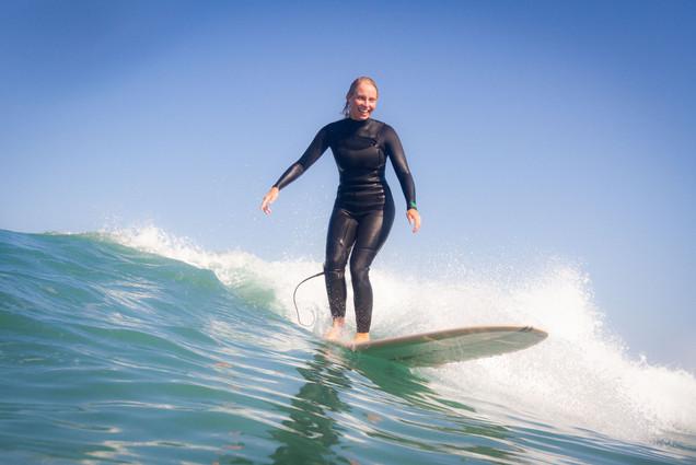 Happy longboarder