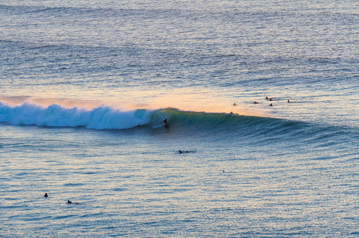 Dreamy sunset barrel Portugal