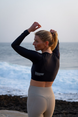 Surf and fitness lifestyle photo