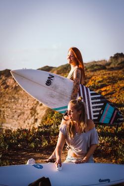 Sunset surfgirls