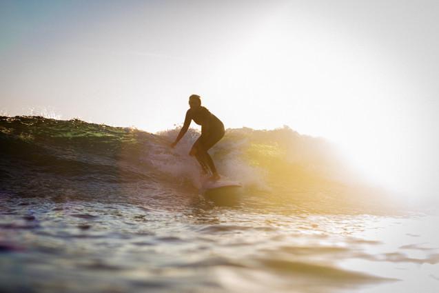 Sunset surfer girl
