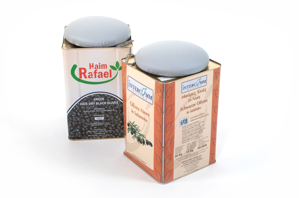 olive container stool
