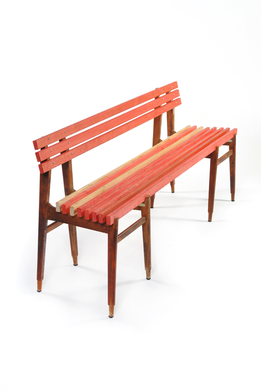 red board bench