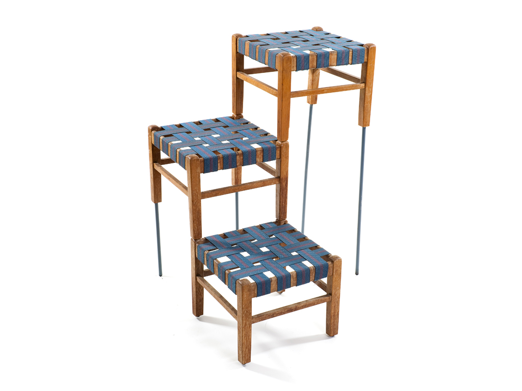 three stools shelves