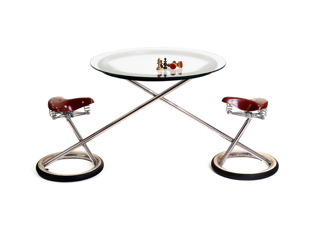 double bicycle table