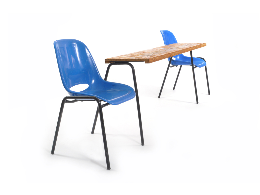 school chairs shelf