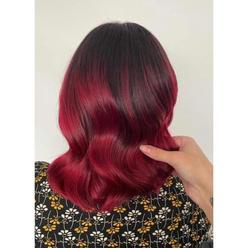 Vibrant red balayage