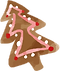 A Christmas Tree Gingerbread Cookie