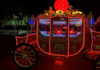 Small Illuminated Christmas Carriage