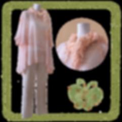 ECOMACO エコマコ 美人スカーフ 春夏スタイリング オレンジ