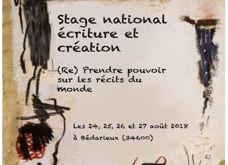 Stage National Ecriture et Création