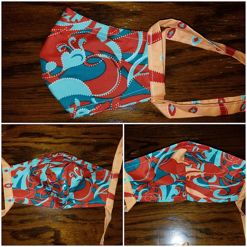 Face Mask w/Ties-Multi-Print1