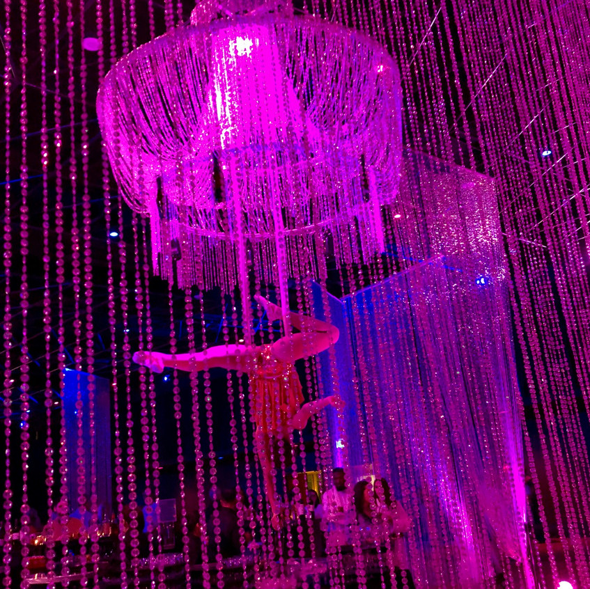 """ChampagneChandelier""""-by Aerial Artistry"""