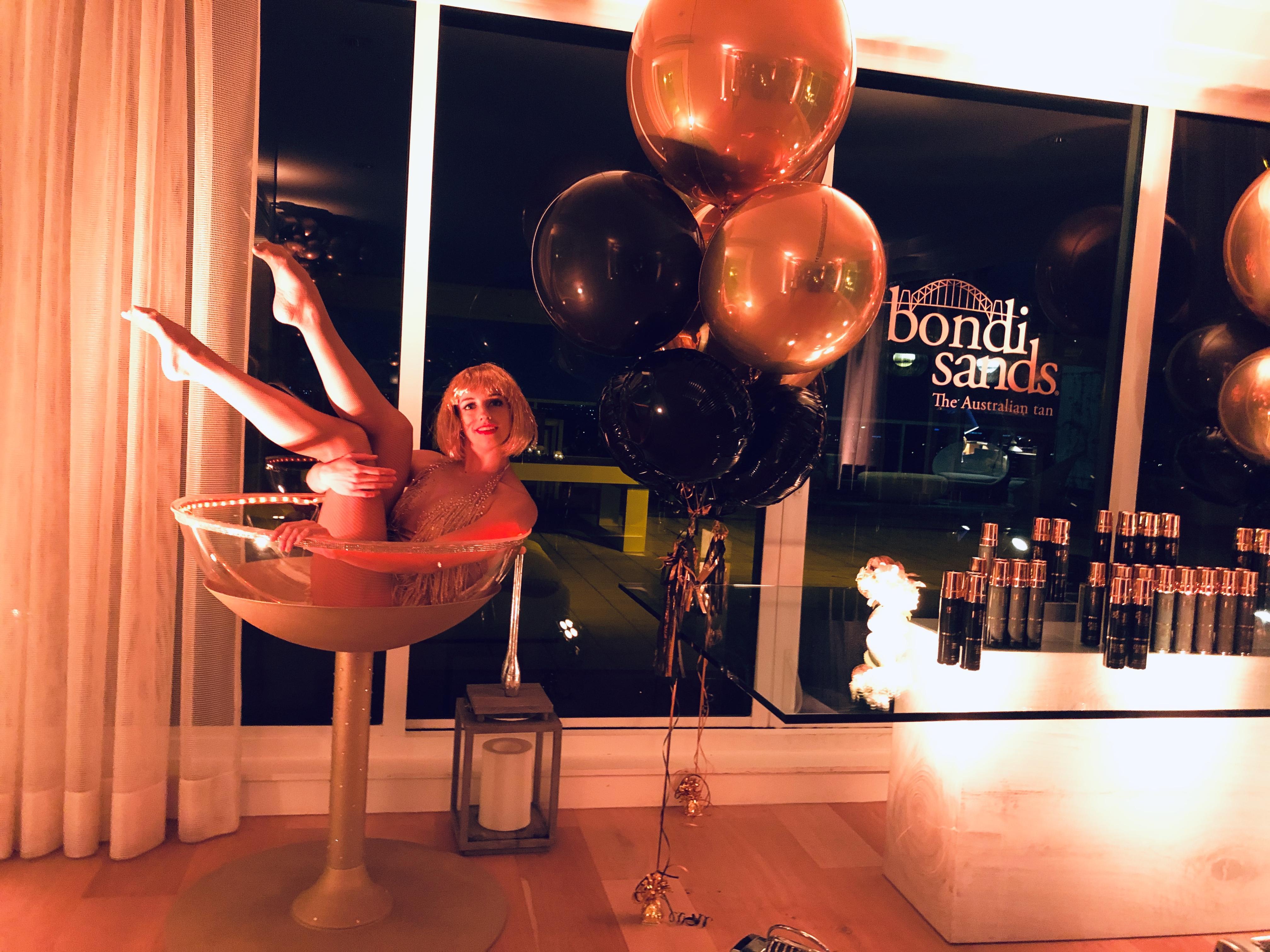dancer in martini glass