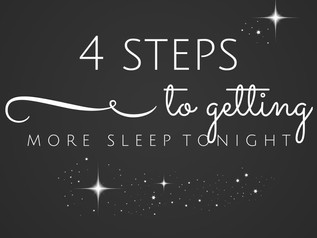 4 steps to getting more sleep tonight