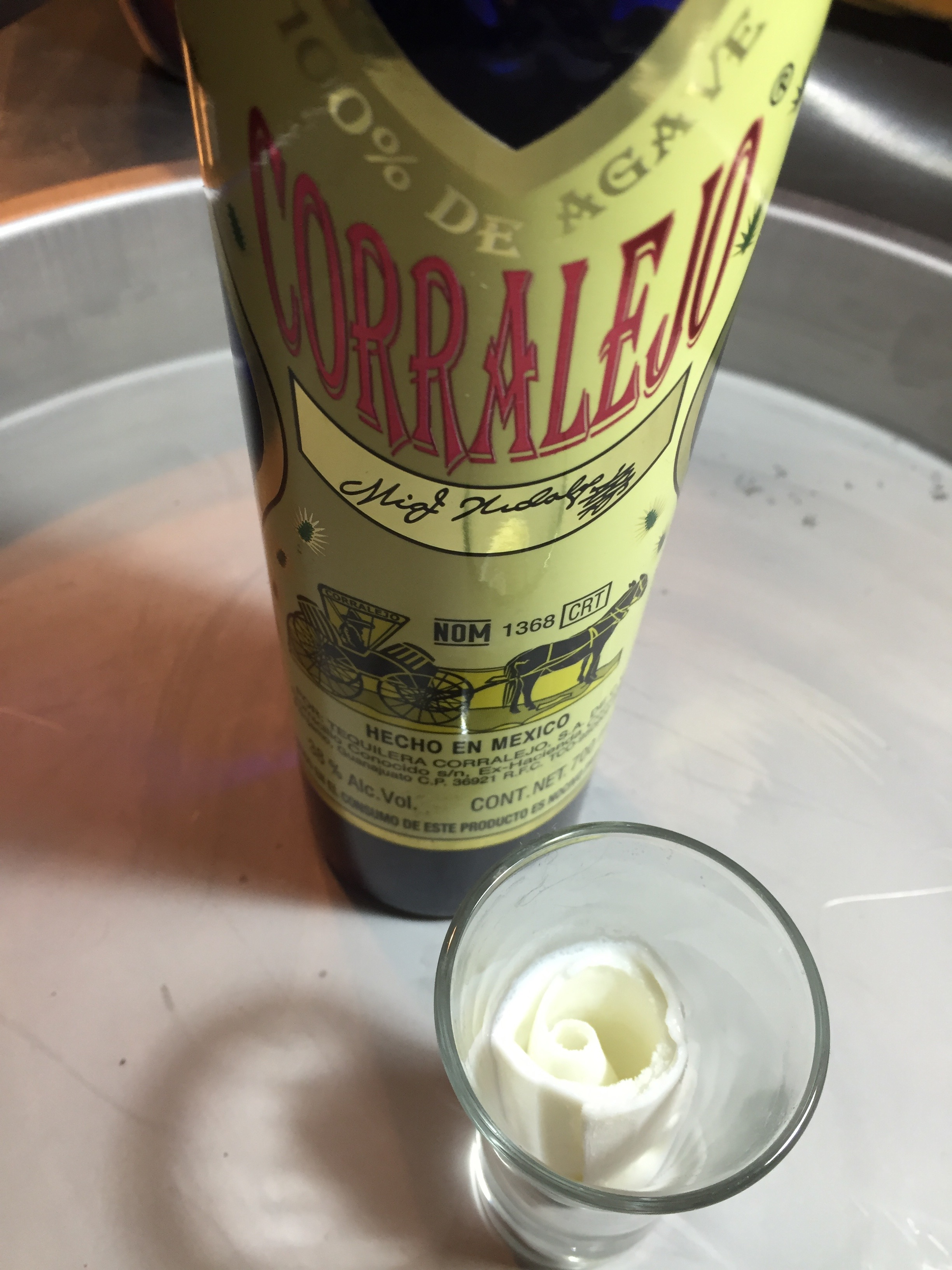 Tequila con rollitos iScream