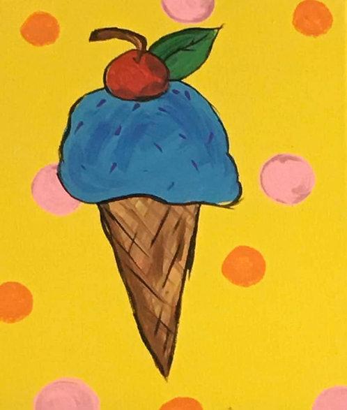 Ice Cream 8x10 Canvas