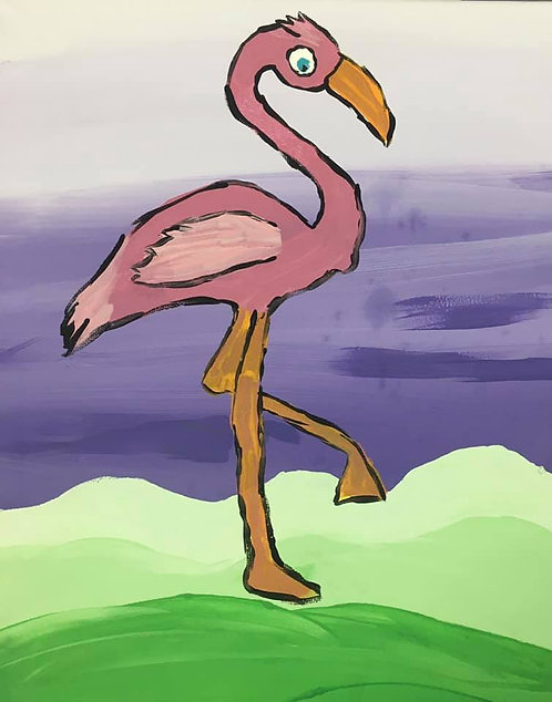 Flamingo 8x10 Canvas