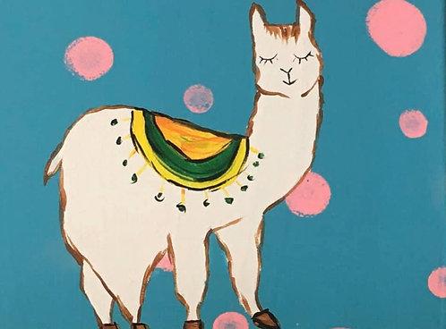 Llama 8x10 Canvas