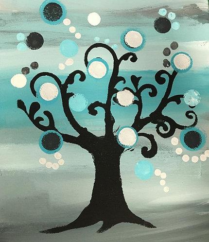 Circle Tree 11x14 Canvas
