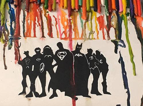Super Heroes 11x14 Paper
