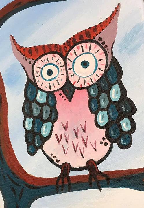 Owl 8x10 Canvas