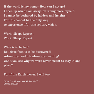 If the world is my home- How can I not g