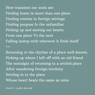 How transient our souls areFinding home