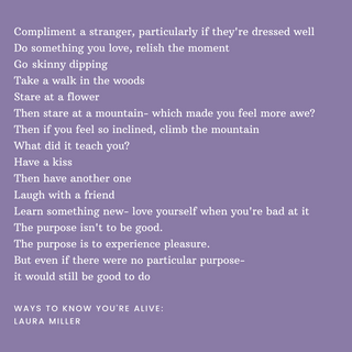 Compliment a stranger, particularly if t
