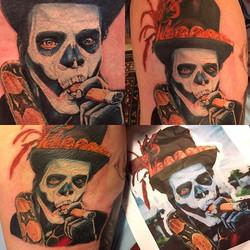 Did this yesterday on wags!! Fun lil voodoo hammer!!_#inkadinkadoo #tattoo #voodootattoos #pittsburg