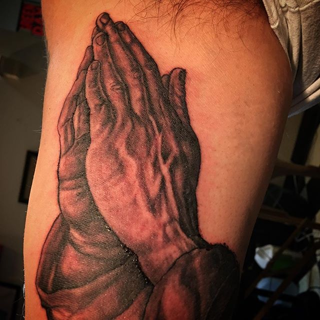 Praying hands a did a few weeks back