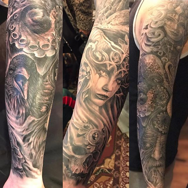 Sleeve in progress on dan._._._._