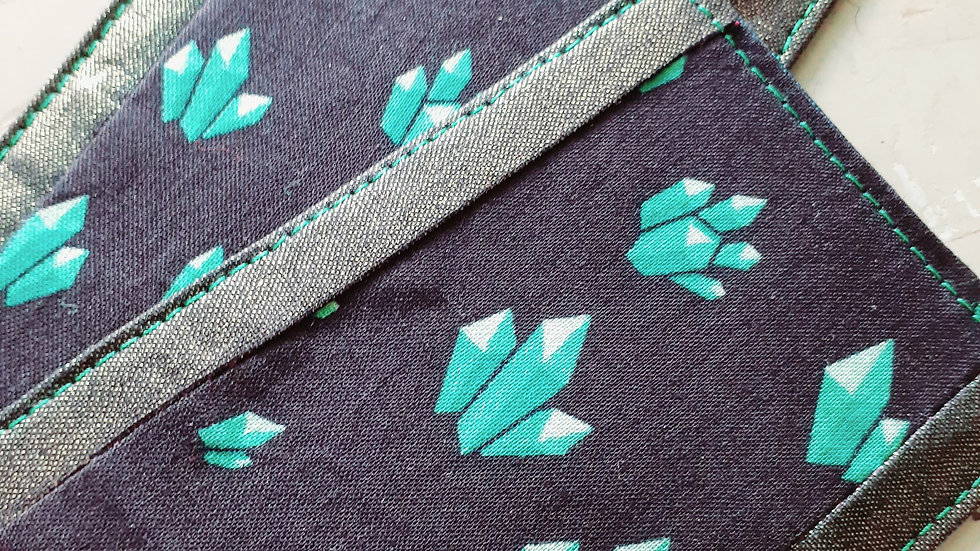 Large Quilted Fabric Bookmark