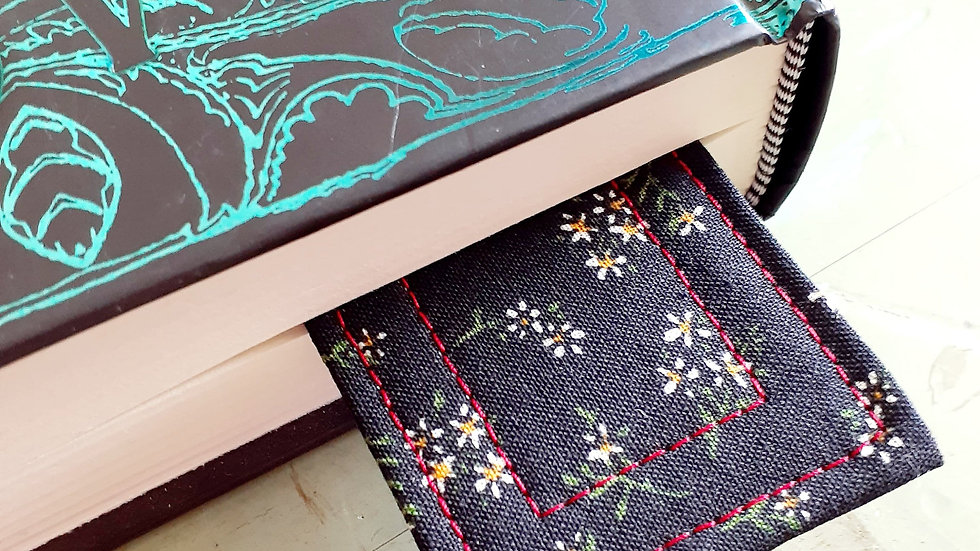 Quilted Floral Fabric Bookmark