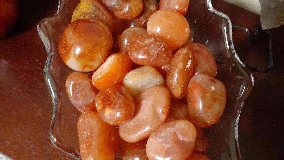 Tumbled Carnelian / Sacral Chakra Stone / Carnelian Crystal