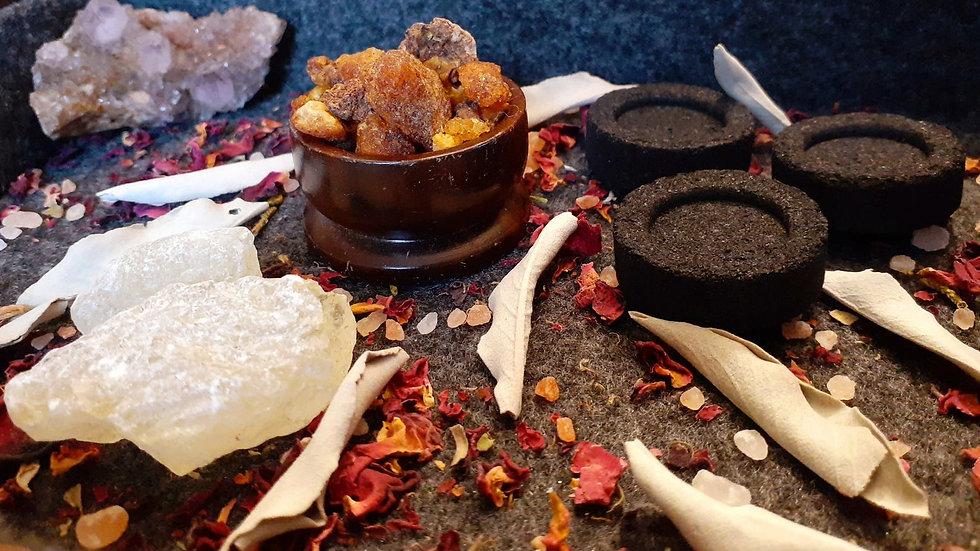 Resin Kit / Incense Kit / Copal Resin / Sweet Myrrh / Cleansing Kit / Altar Kit