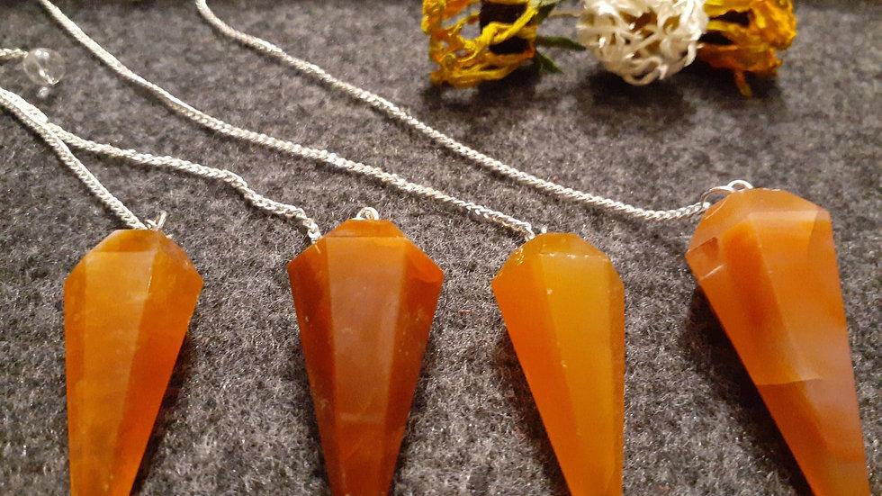 Carnelian Pendulum / Crystal Pendulum / Dowsing Pendulum / Chakra Tool