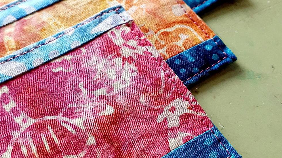 Large Quilted Batik Fabric Bookmark