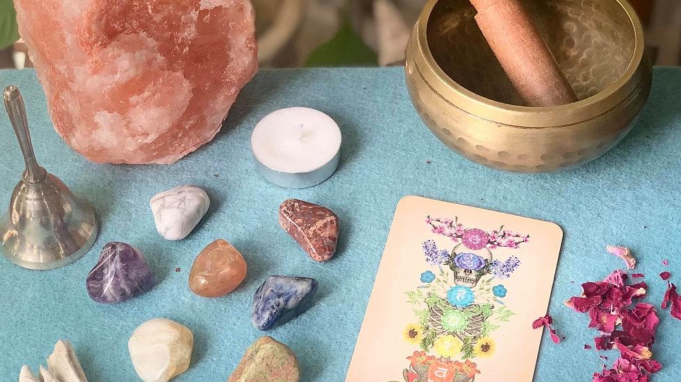 Crystal Chakra Healing Set / Cleansing Kit / Reiki Energy Healing Kit