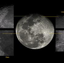 Lua e crateras 12/04/2020