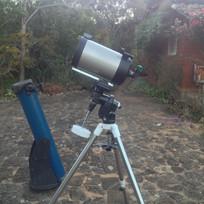 C8 e newtoniano 180mm em campo
