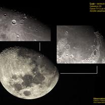 LUA e detalhe das crateras