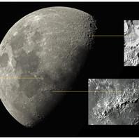Lua + crateras