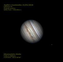 Jupiter e Ganimedes 31/05/2018