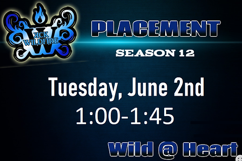 Placements June 2nd at 1:00PM (2002-2005)