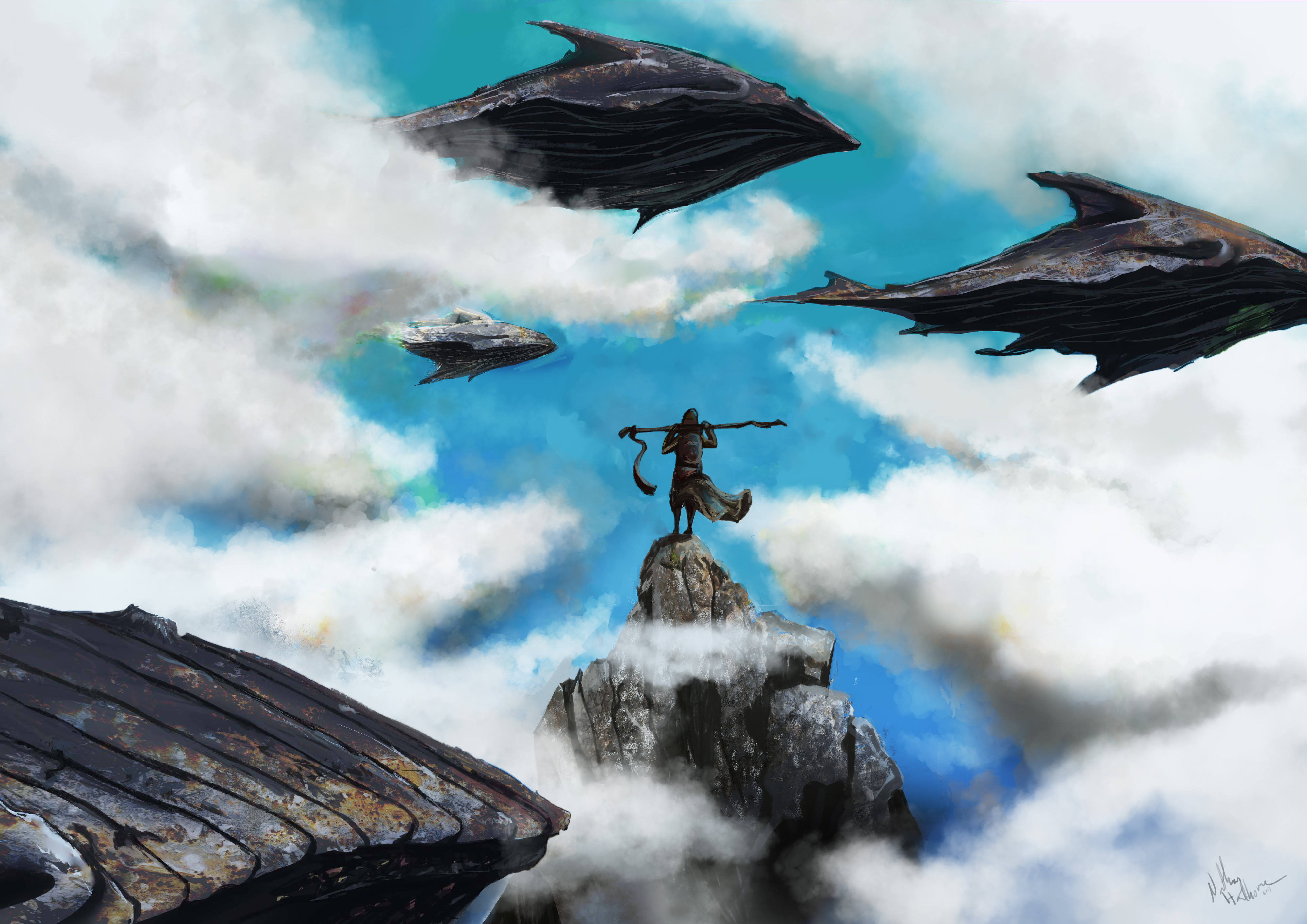 Flying with whales